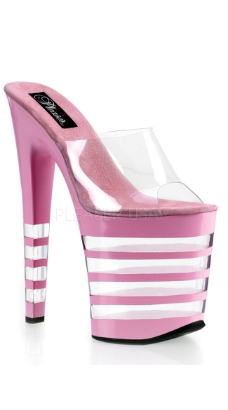 "8"" Stiletto Heel Lined Platform Slide"