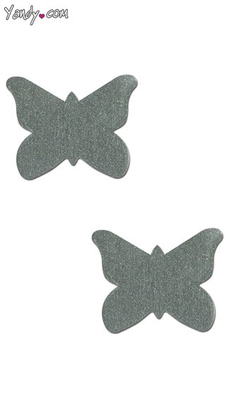 Silver Butterfly Pastease, Butterfly Shaped Pasties