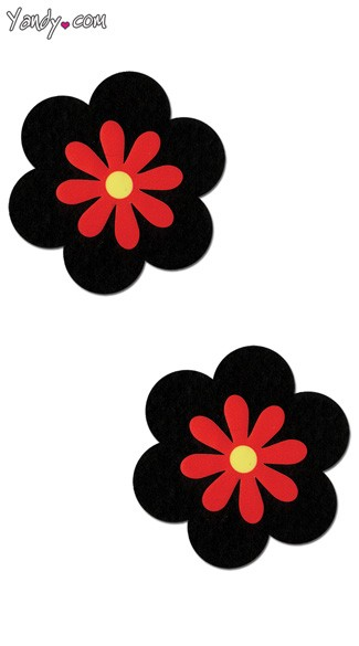 Black and Red Flower Pasties