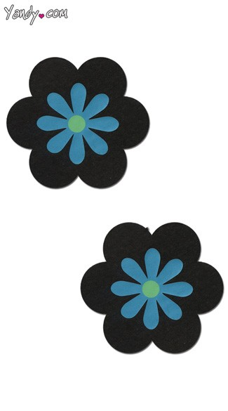 Black and Blue Flower Pasties