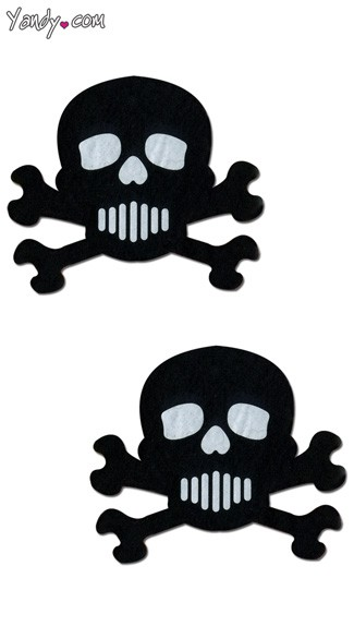 Skull Pastease, Black Skull Shaped Pasties, White Skull Pasties
