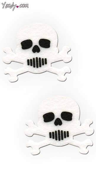 White and Black Skull Pasties