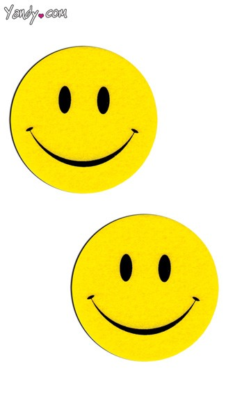 Smile Pasties, Yellow Face Pasties, Smiley Pasties