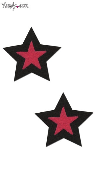 Black and Pink Rockstar Pastease, Black and Pink Star Pasties