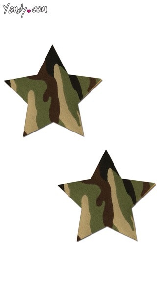Rockstar Camouflage Pastease, Camouflage Star Pasties