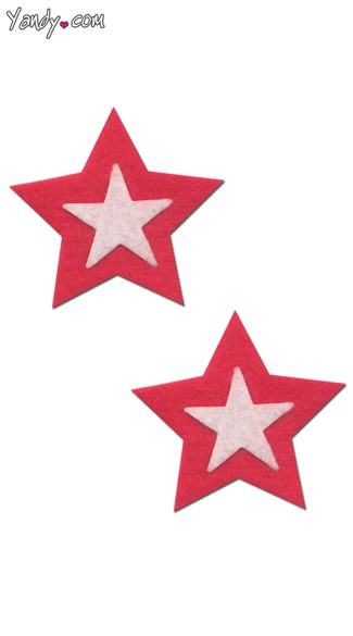 Hot Pink and White Star Pasties