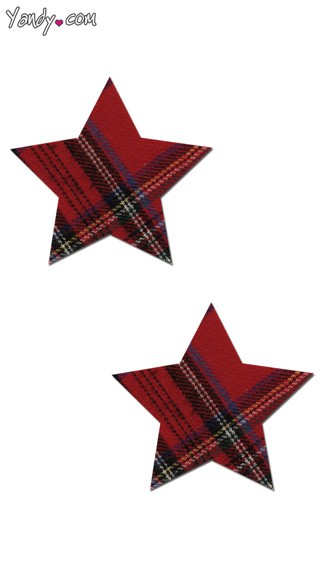 Red Plaid Star Pasties