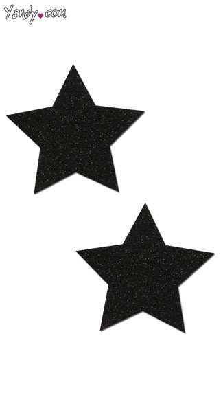 Black Sparkly Star Pasties
