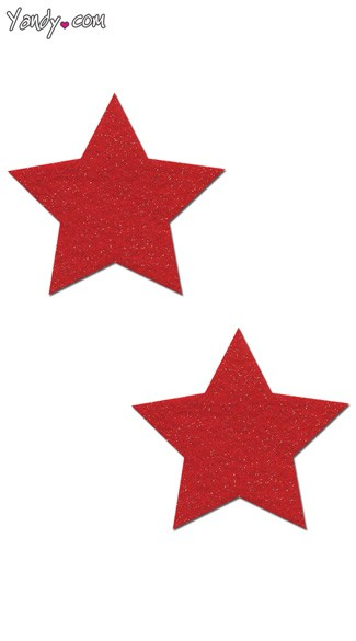Red Sparkly Star Pasties