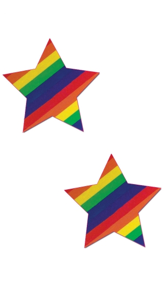 Rainbow Star Pasties, Colorful Star Pasties, Star Shaped Pasties