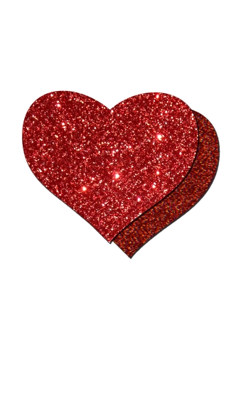 Glittered Love Heart Shaped Pasties