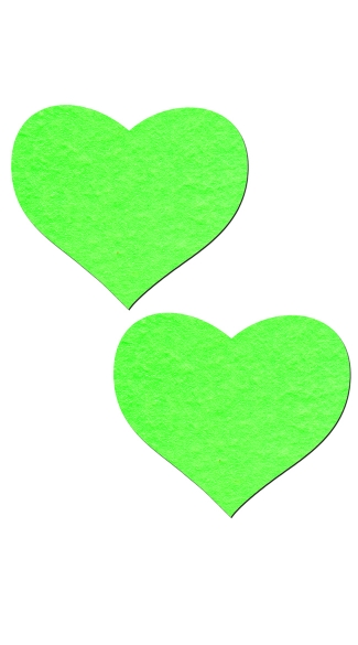 Glow in the Dark Heart Pasties, Glow in the Dark Pasties, Glow in the Dark Lingerie
