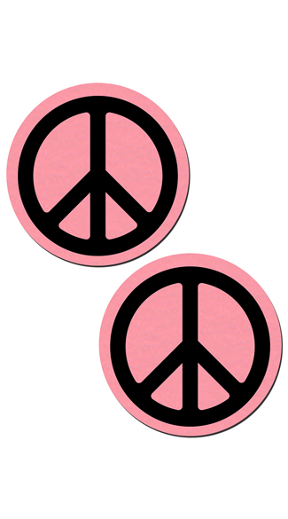 Baby Pink Peace Sign Pasties, Peace Sign Pasties, Pink and Black Pasties