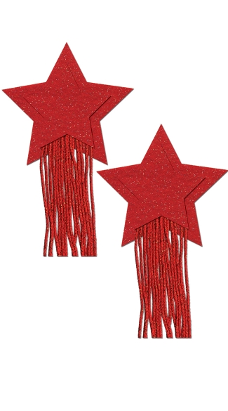 Sparkly Red Tassels