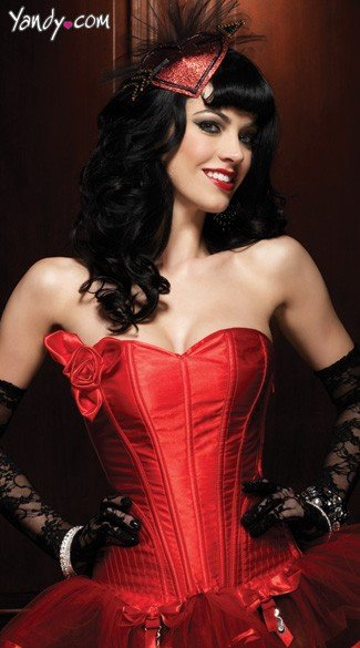 Paige Corset with Support Boning, Red Satin Corset, Valentines Day Corset, Paige Corset with Support Boning And Side Zipper