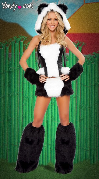 Panda Bear Corset and Skirt