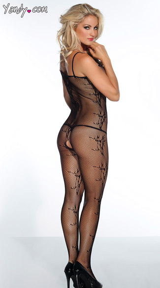 Open Crotch Fishnet Bodystocking