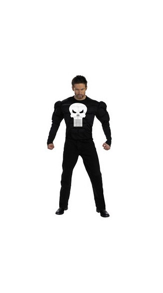 Adult Punisher Muscle Shirt Costume - The Punisher Costume - The Punisher Halloween Costume. Mens halloween costume.
