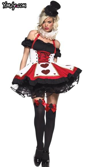 of Hearts Halloween Costume, Alice In Wonderland Queen Of Hearts ...