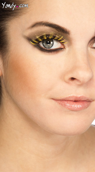 Yellow and Black Fake Eylashes