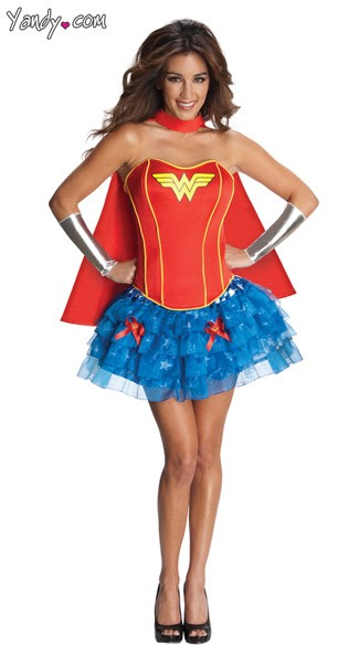 Sexy Wonder Woman Corset Costume