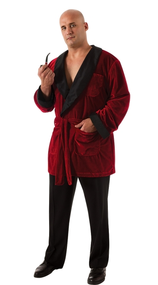 Mens Plus Size Hugh Hefner Costume, Playboy Hugh Hefner Robe Outfit
