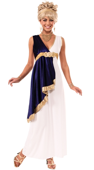 Grecian Goddess Costume, Long Goddess Costume