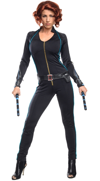 Adult Black Widow Costume, Black Widow Costume, Sexy Avengers Costume