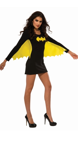 Batgirl Dress with Wings, Batgirl Costume, Sexy Batman Costumes