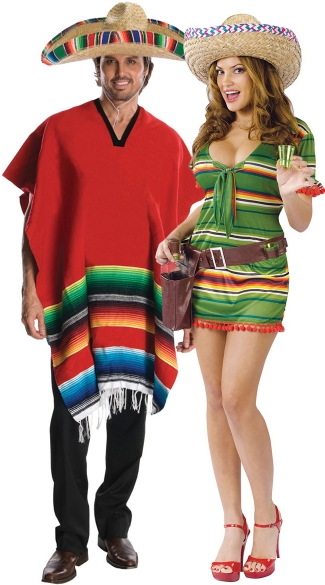 South Of The Border Couples Costume, Sexy Mexican Couples Costumes, Sexy Latin Couples Costume