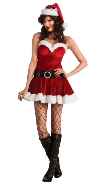 Ms. Santa In Training Costume, Sexy Miss Santa Costume, Miss Santa Dress