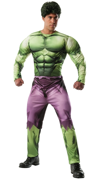 Men\'s Hulk Costume, Mens Incredible Hulk Costume, Hulk Halloween Costume