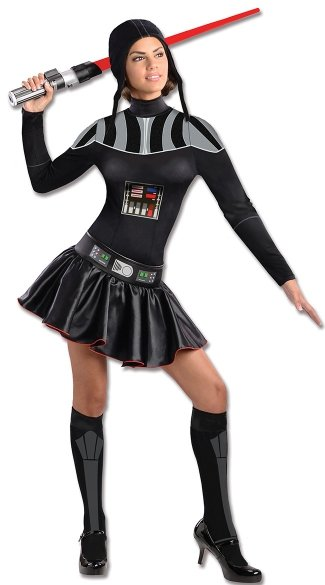 Evil Space Leader Dress Costume, Female Star Wars Costume, Black Darth Vader Dress, Darth Vader Costume
