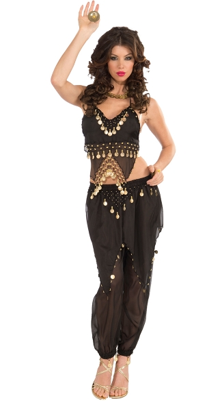 Black Belly Dancer Costume Black And Gold Belly Dancer