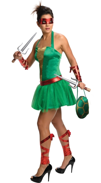 TMNT Female Raphael Costume, Female TMNT Costume, Teenage Mutant Ninja Turtles Raphael Costume