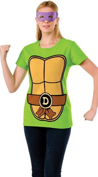 Donatello Teenage Mutant Ninja Turtle T-Shirt Costume, Mutant Turtle Costume T-Shirt, Purple Mask Ninja Turtle Costume