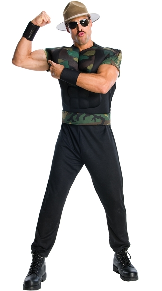Sgt. Slaughter Costume, GI Joe Slaughter Costume, Camouflage Sgt. Slaughter Costume