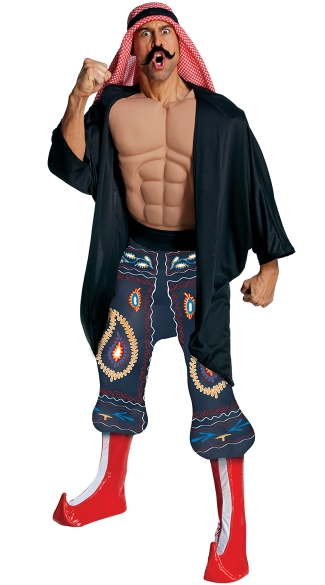 The Iron Sheik Costume, WWE Superstar Wrestler Costume, The Iron Sheik Cold Wrestler Costume
