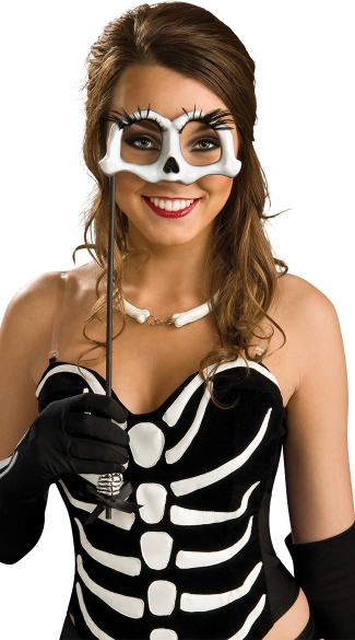 Skeleton Eyemask On A Stick