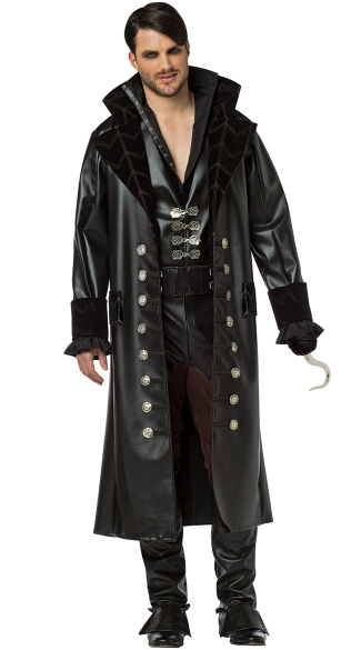 Once Upon A Time Hook Costume, Men\'s Captain Hook Costume, Captain Hook Halloween Costume