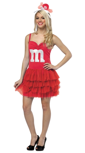 Red M&M Party Dress Costume