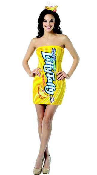 Yellow Laffy Taffy Dress Costume