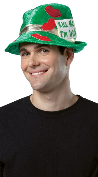 Kiss Me I\'m Irish Hat St Patrick\'s Day Hat, St Patrick\'s Day Top Hat