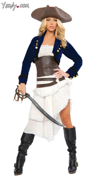 Deluxe Colonial Pirate Costume, Deluxe Pirate Sexy Costume