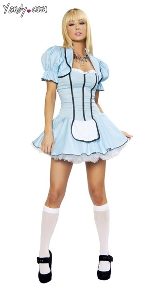 Tea Party Alice Costume, Blue Alice Costume, Womens Alice Costume