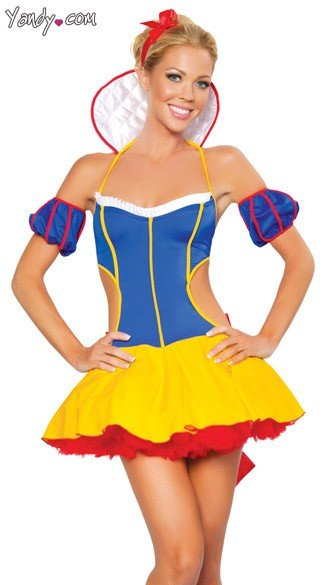 Fantasy Snow Costume, Snow White Sexy Costume, Womens Snow White Costume