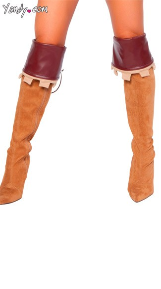 Sherwood Robyn Boot Covers, Brown Pleather Boot Covers