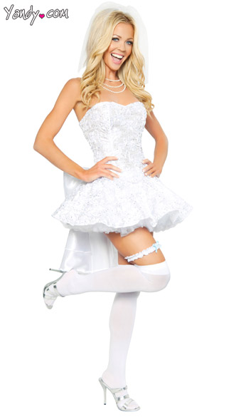 Fantasy Bride Costume, Womens Bride Costume, Sexy Bride Costume