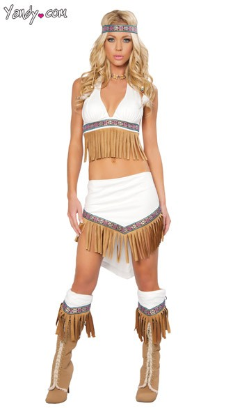 The Wolf Hunter Costume, Indian Girl Costume, Native American Costume