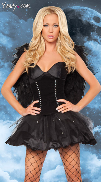 Sexy Dark Angel Costume, Adult Angel Costume, Bad Angel Costume